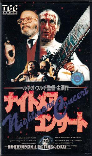 Cat in the Brain NIGHTMARE CONCERT Japanese VHS Lucio Fulci
