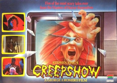 Creepshow UK Re Release Poster Stablecane Home Video