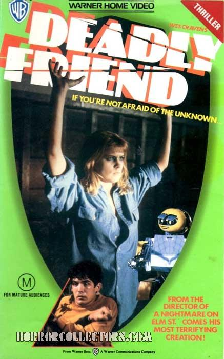 Deadly Friend Australian Warner VHS Video