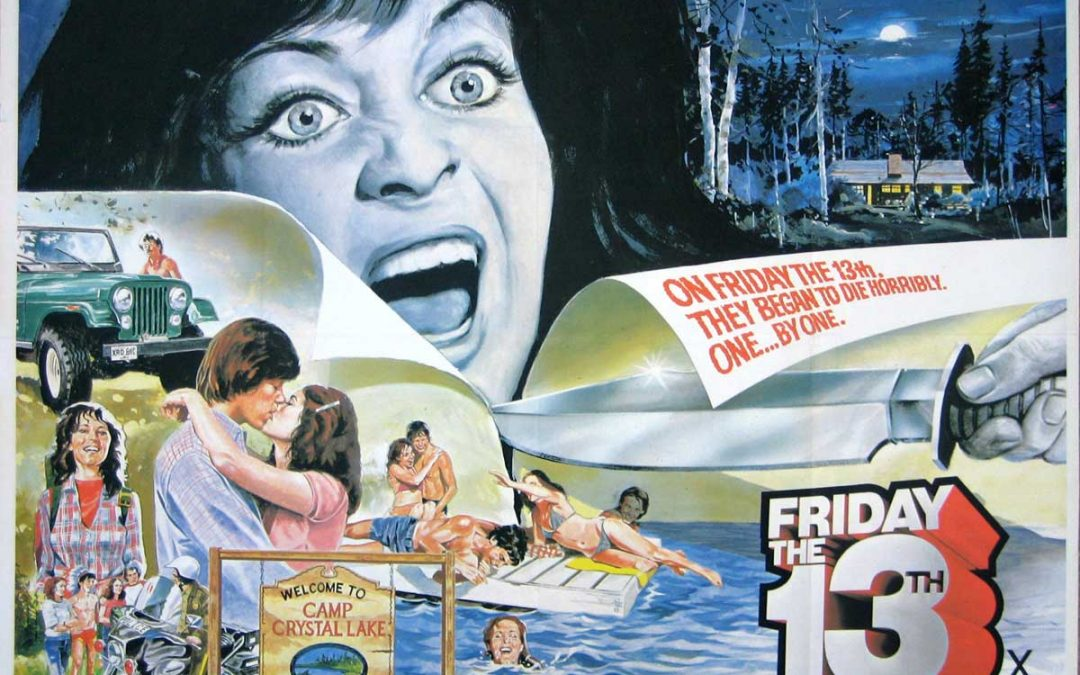 Friday the 13th British Quad poster Warner Bros