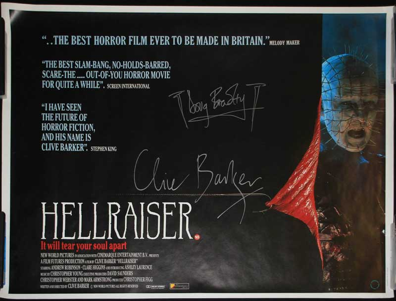 HELLRAISER BRITISH QUAD POSTER