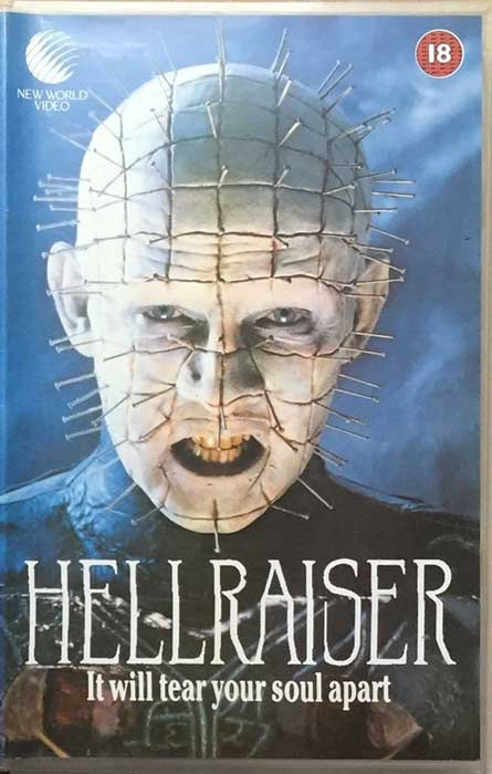 Hellraiser UK New World Video VHS