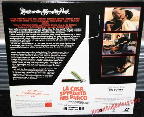 House on the edge of the park Limited EC Laserdisc back