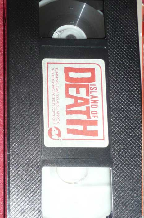 ISLAND OF DEATH UK AVI Video VHS Pre Cert tape