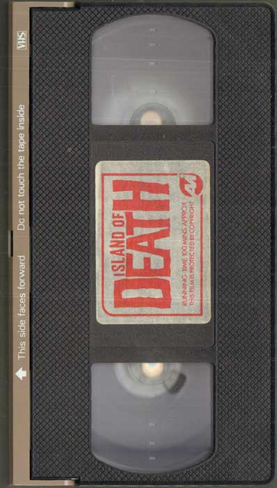 ISLAND OF DEATH UK AVI Video VHS Pre Cert tape 2