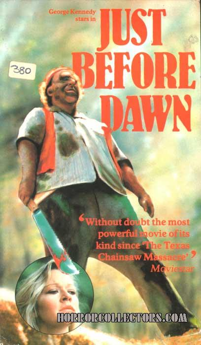 Just Before Dawn UK Rank Video VHS