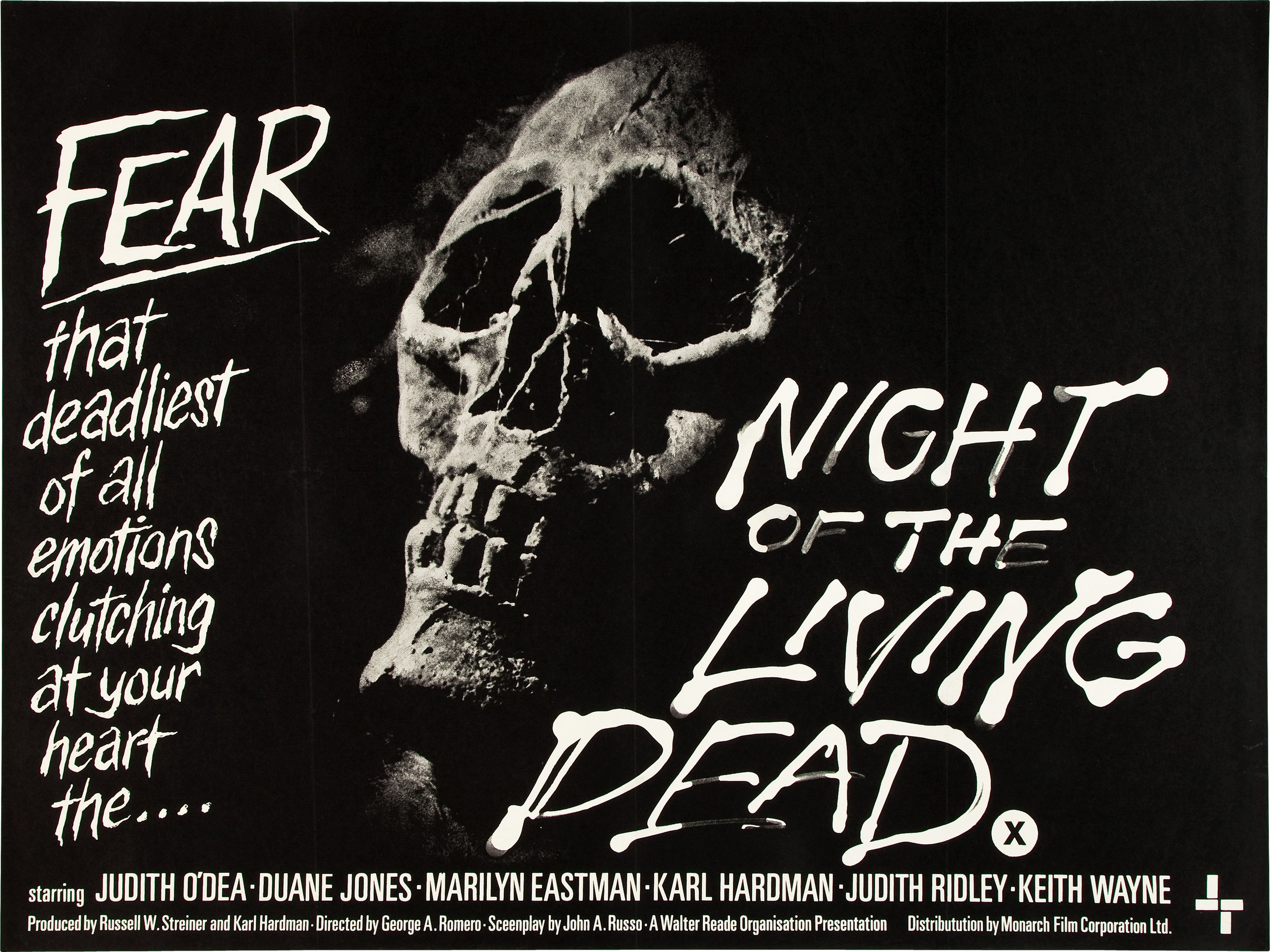 Night of the Living Dead British Quad Poster