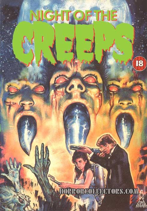 Night of the Creeps UK CBS FOX Video with Double Sided Cover