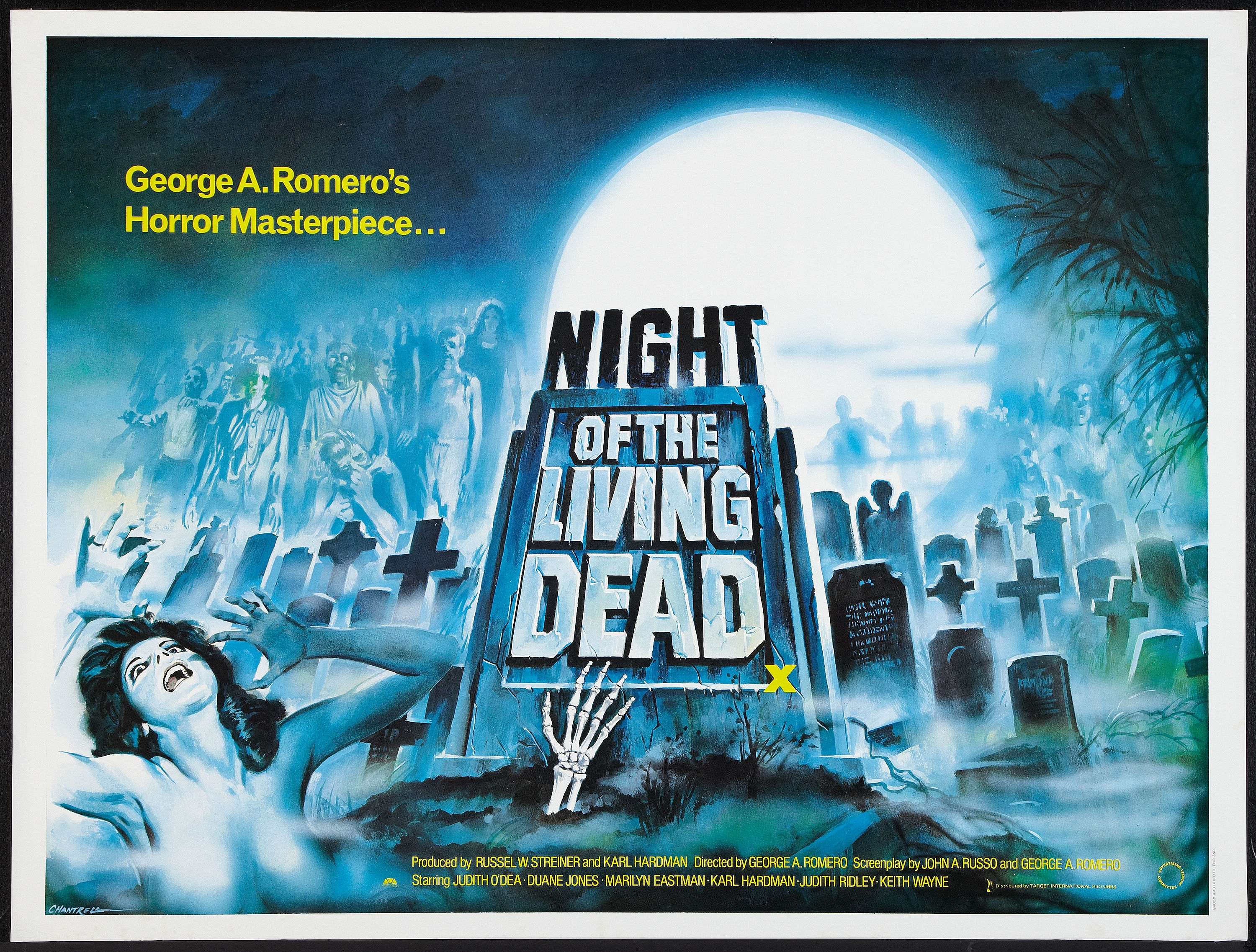 Night of the Living Dead Re-Release British Quad Poster