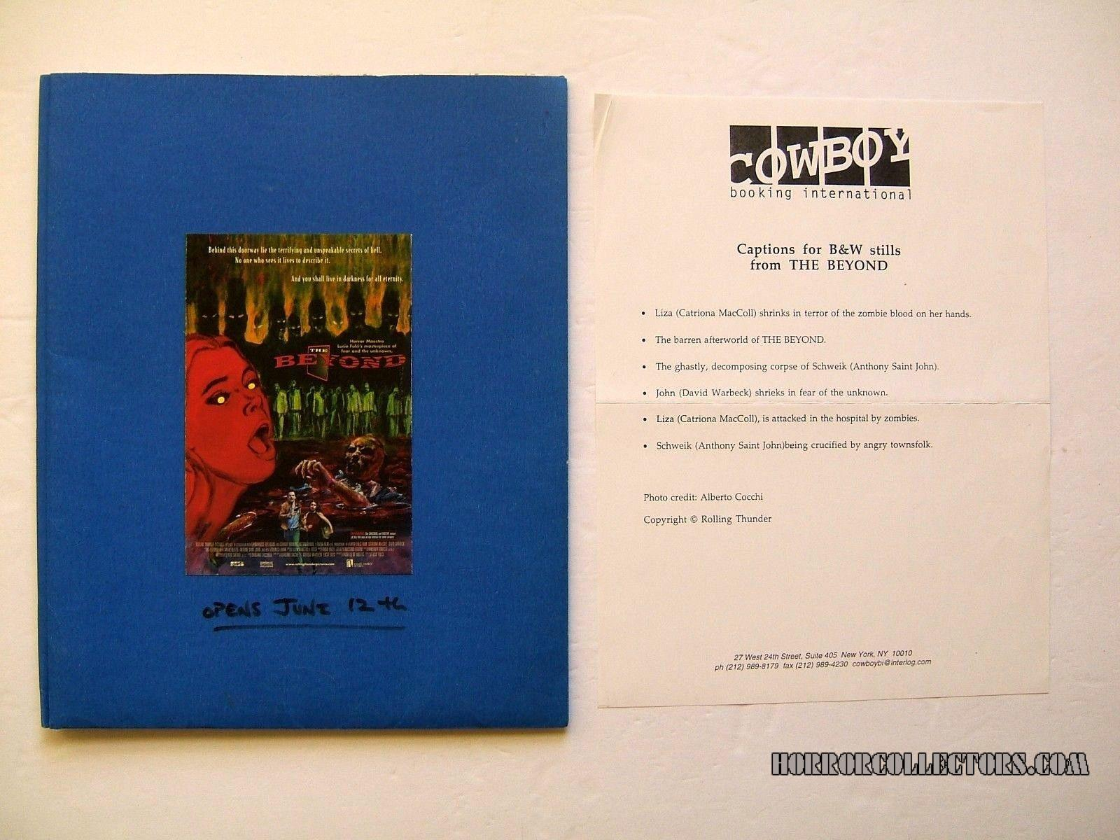 The BEYOND Production Press Kit Lucio Fulci 1998 Rolling Thunder Grindhouse