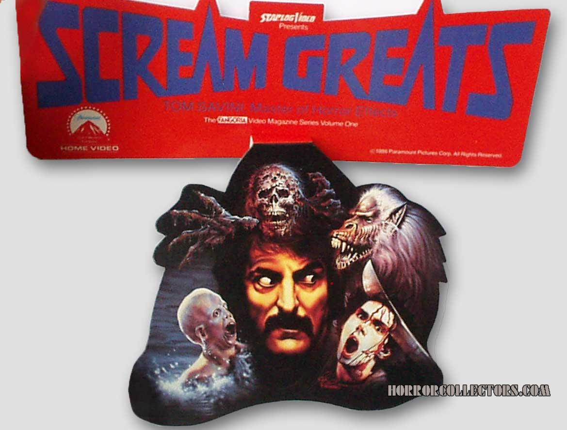 Scream Greats Tom Savini Video Store Promo Cardboard Display Dangler