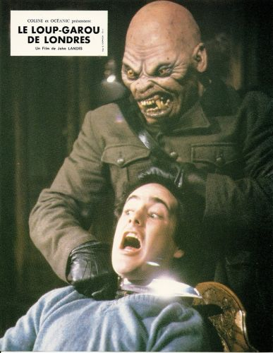AN AMERICAN WEREWOLF IN LONDON FRENCH LOBBY CARDS