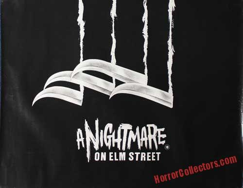 A NIGHTMARE ON ELM STREET BRITISH TEASER QUAD POSTER B & W VERSION