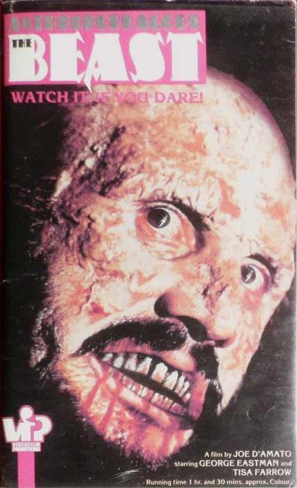 Anthropophagous The Beast UK VFP VHS PRE CERT Video