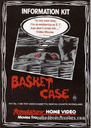 BASKET CASE AUSTRALIAN ROADSHOW HOME VIDEO ADVERTISING INFORMATION