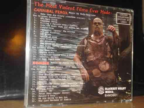 CANNIBAL FEROX / ZOMBIE BLACKEST HEART MEDIA CD OST