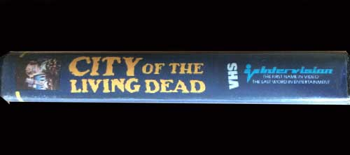 City of the Living Dead Inter Light VHS Video spine