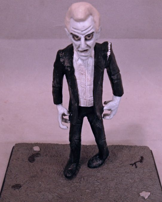 Night of the Living Dead Clay Guy Bill Hinzman Cemetery Zombie figure