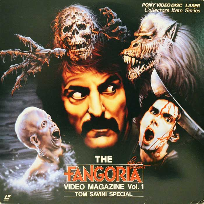 The Fangoria Video Magazine Vol 1 Tom Savini Japanese Laserdisc