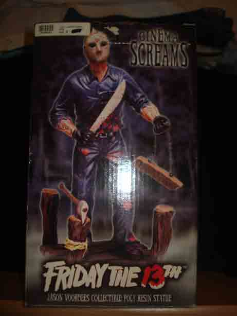 FRIDAY THE 13th CINEMA SCREAMS JASON VOORHEES DIORAMA box