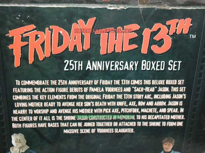 friday the 13th neca 25 anniversary box set back