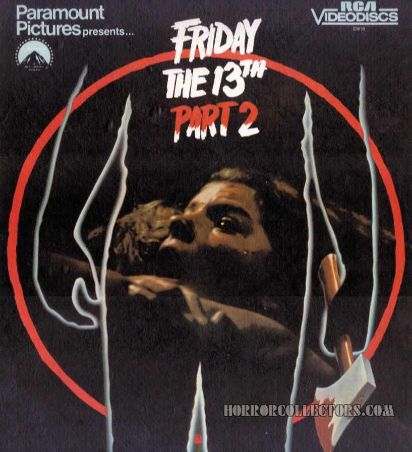 Friday the 13th Part 2 Paramount RCA Video Disc