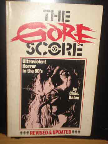 THE GORE SCORE BOOK