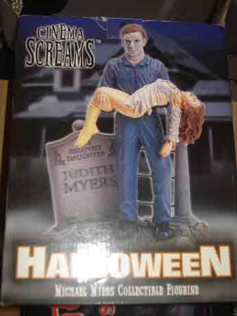 HALLOWEEN CINEMA SCREAMS MICHAEL MYERS DIORAMA box