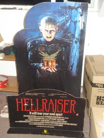 HELLRAISER UK VIDEO STORE STANDEE