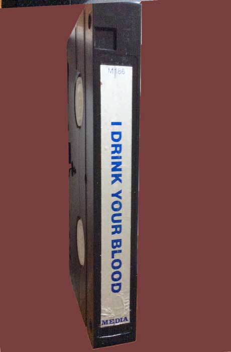 I DRINK YOUR BLOOD Pre-cert Media VHS tape