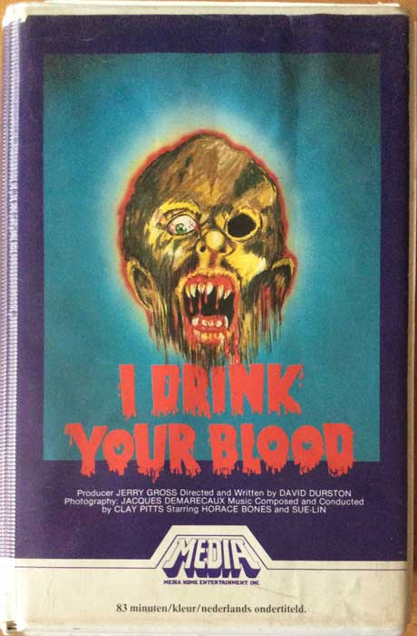I DRINK YOUR BLOOD UK Media Pre Cert VHS Video