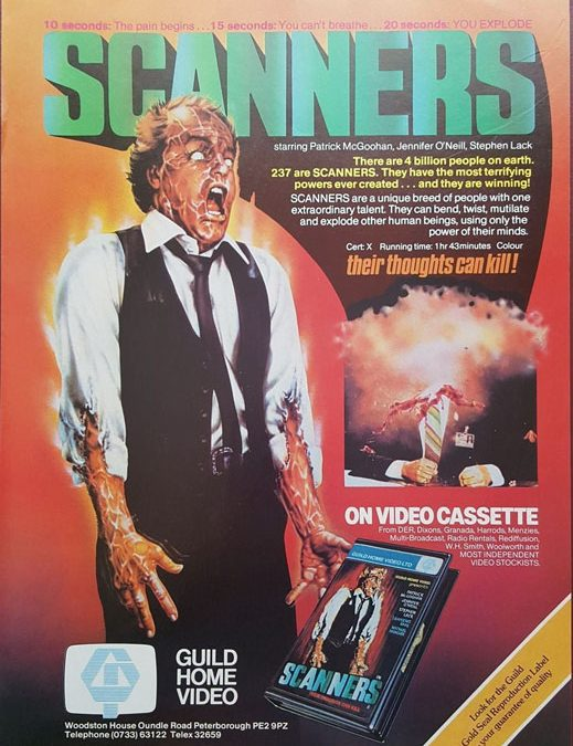 Scanners Guild Home Video Pre-Cert Video 1980's Magazine Advert