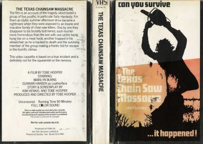 texas chainsaw massacre UK IFS uncensored cover