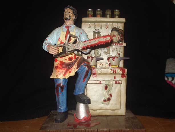 TEXAS CHAINSAW MASSACRE CINEMA SCREAMS LEATHERFACE DIORAMA
