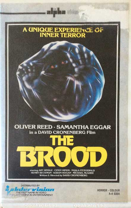 The Brood UK Intervision Pre Cert VHS
