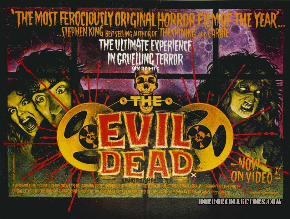 The Evil Dead British Quad Poster