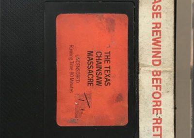 texas chainsaw massacre Original UK vhs pre cert cassette