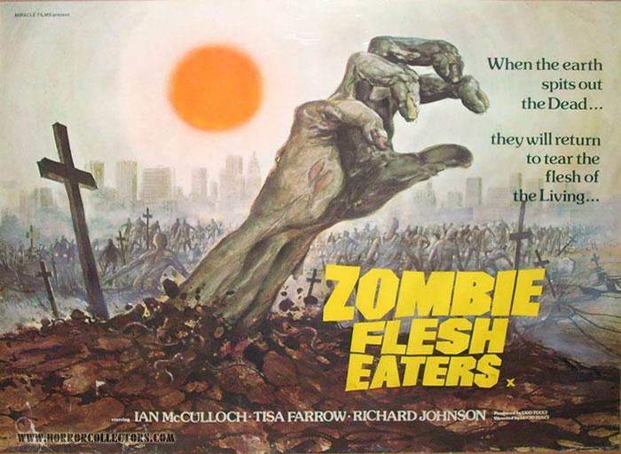 Zombie Flesh Eaters British Quad Poster