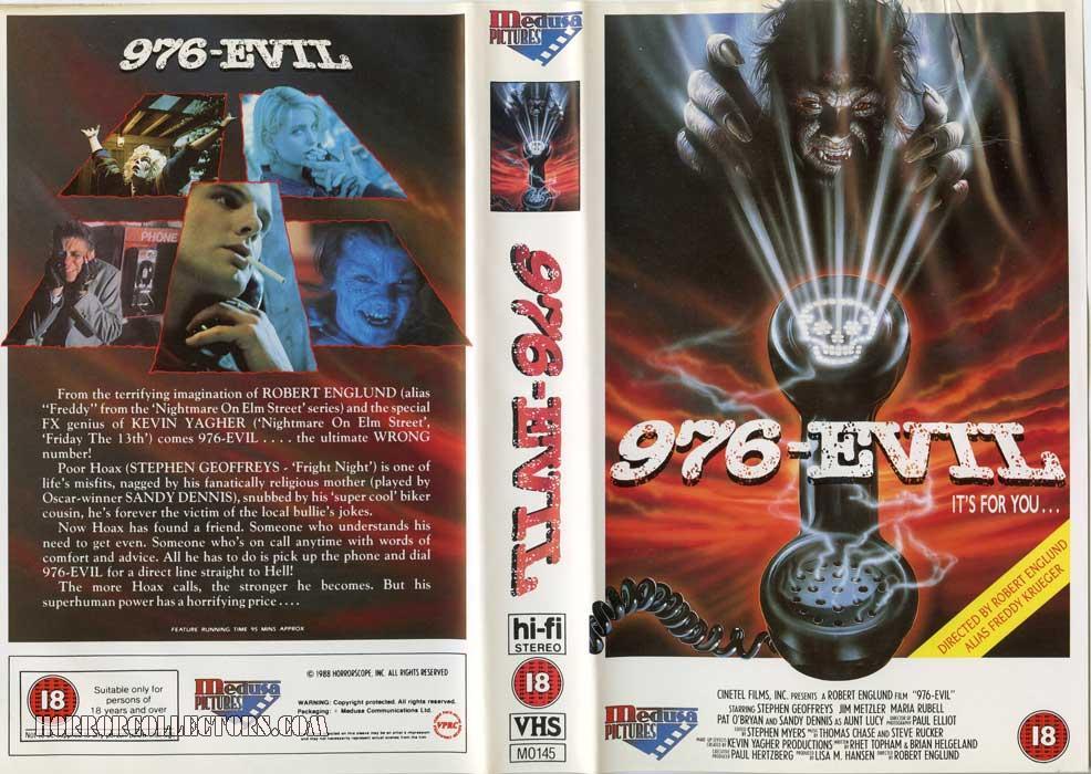 976 Evil UK Medusa VHS Video