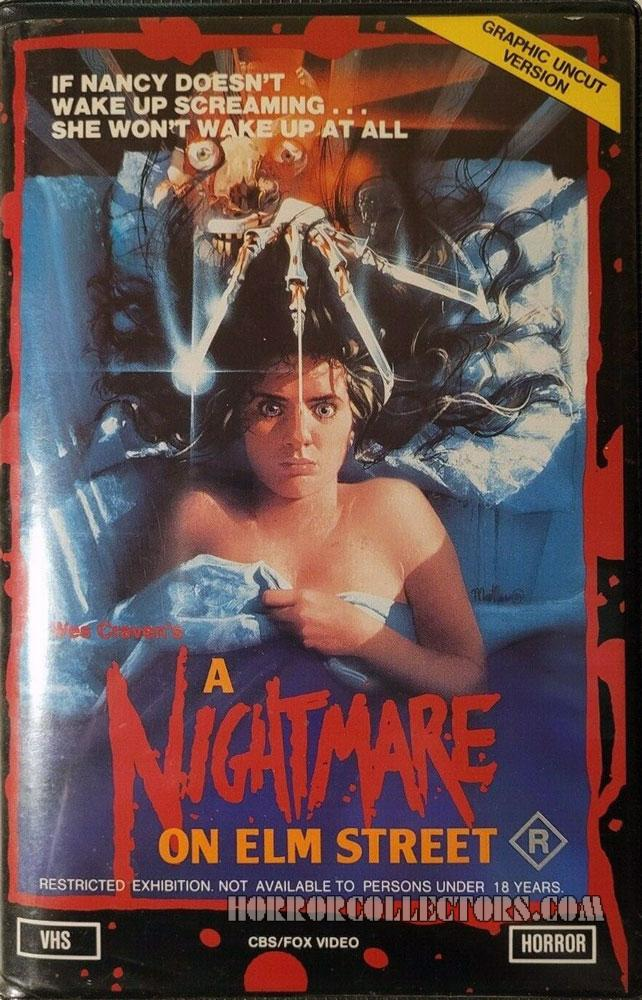 A Nightmare on Elm Street Australian CBS FOX VHS Video Dual Cover
