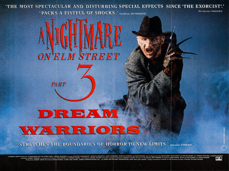 A Nightmare on Elm Street Part 3 Dream Warriors British Quad Poster