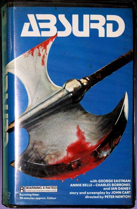 Absurd UK Medusa Pre Cert VHS Video