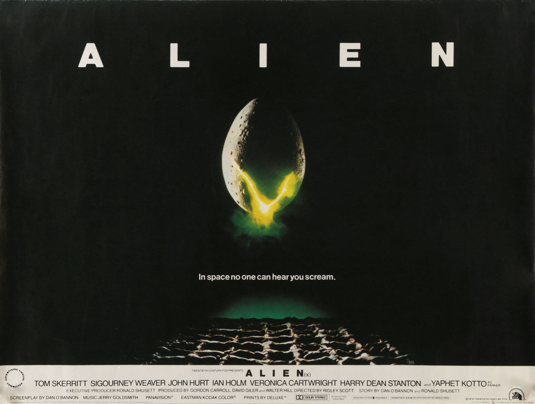 Alien British Quad Poster