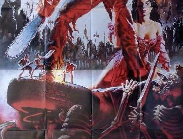 Army of Darkness 1992 Rare French 2-Panel Poster Sam Raimi Bruce Campbell