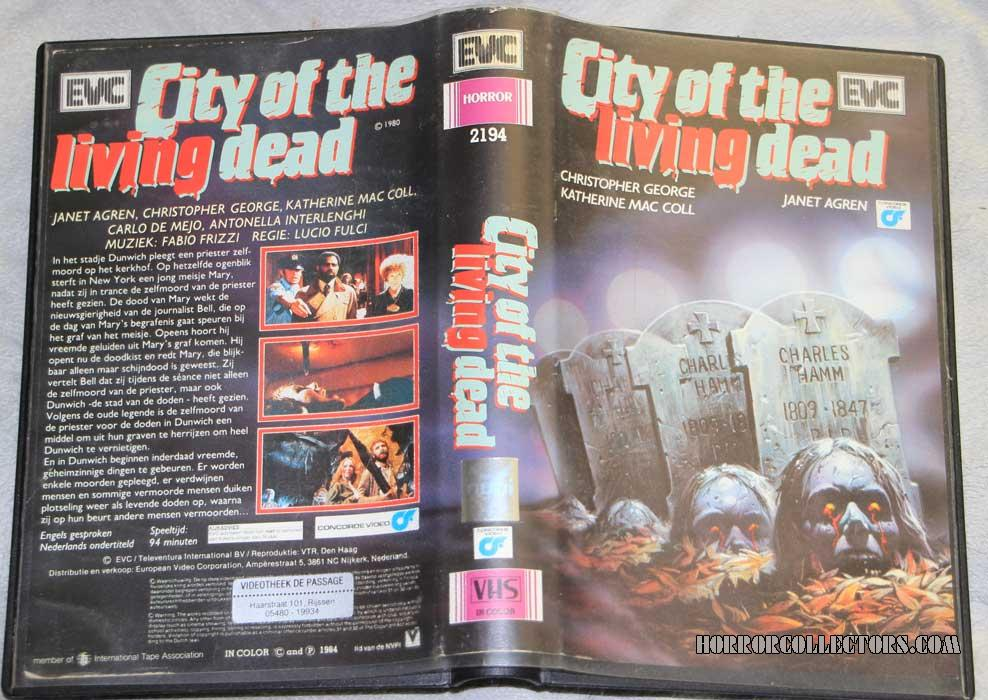 City of the Living Dead Netherlands EVC VHS Video sleeve