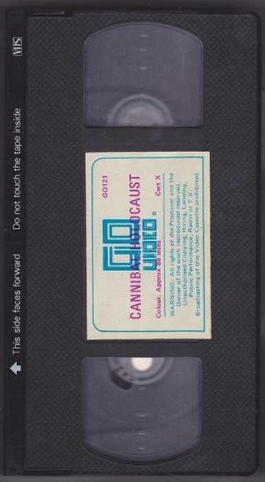 Cannibal Holocaust UK Go Video VHS Video tape