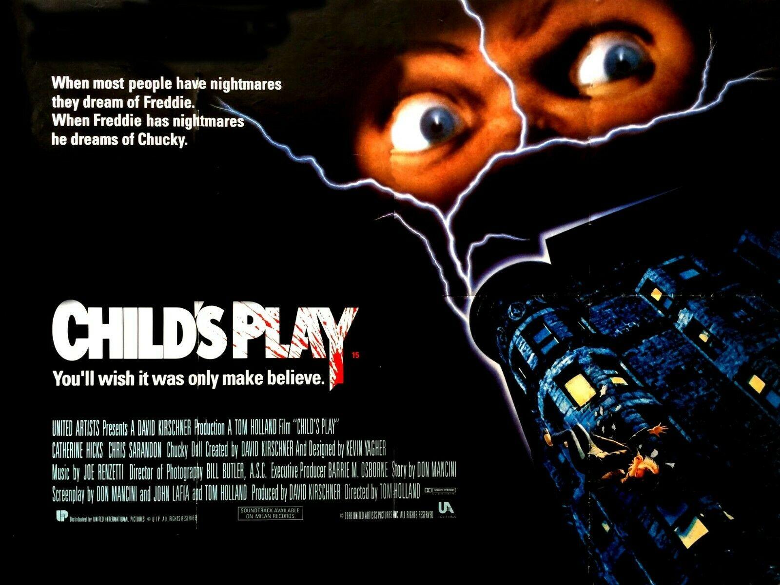 Childs Play british Quad Poster