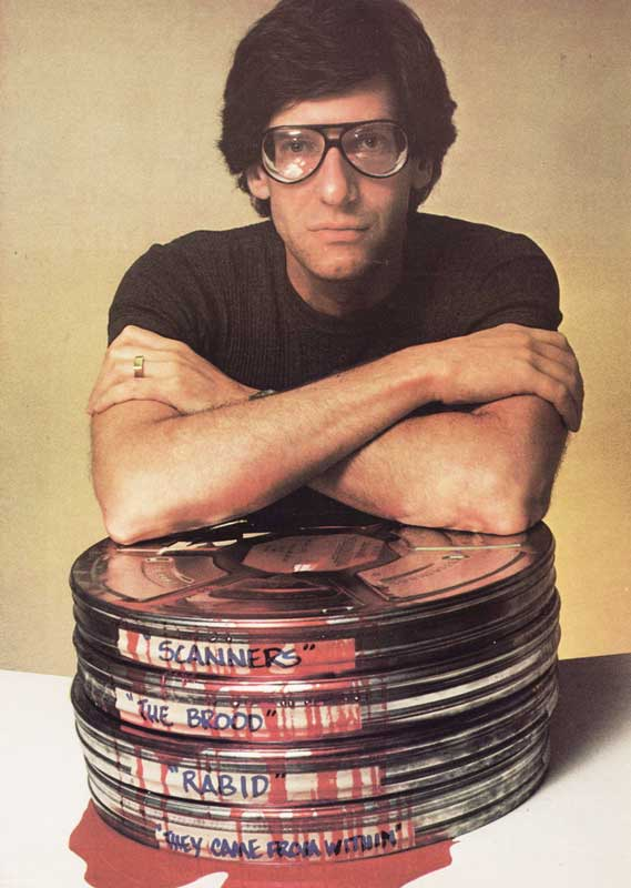 David Cronenberg with Movie Reels