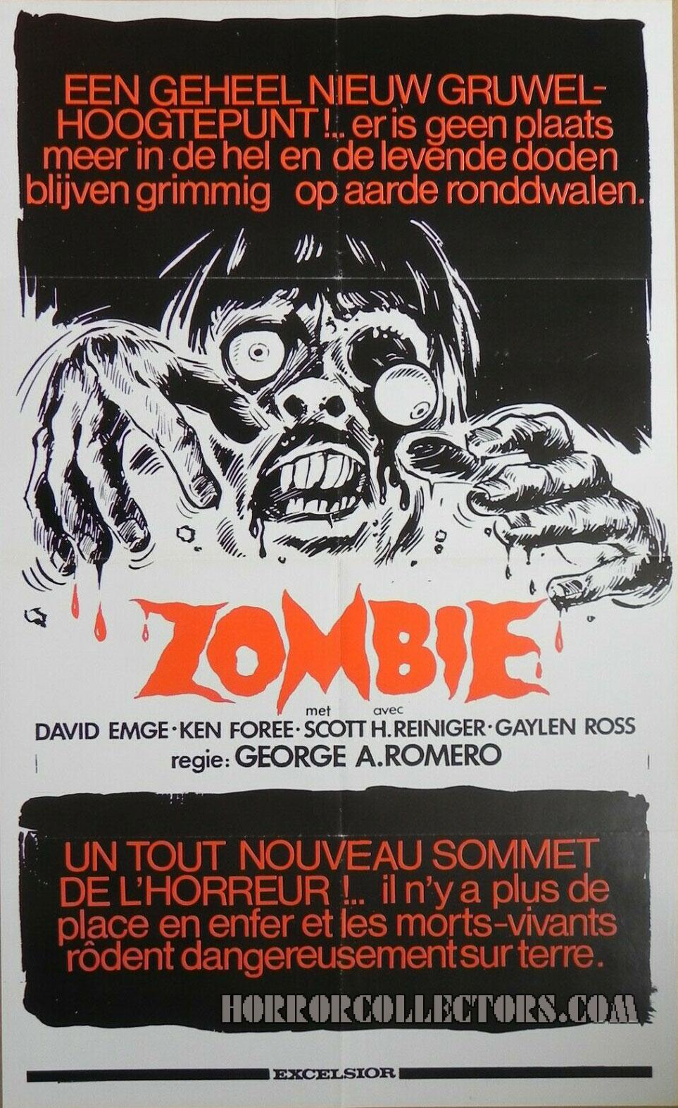 Zombie Dawn of the Dead Dutch Excelsior Poster