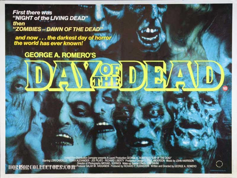 Day of the Dead British Quad Poster